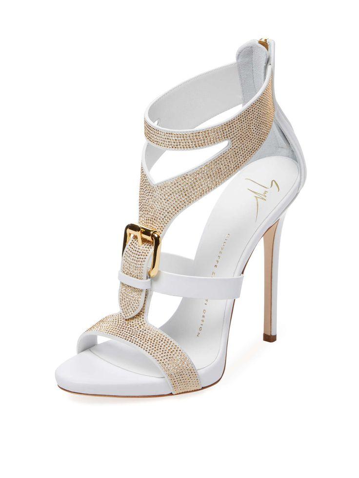 Embellished Buckle T-Strap Sandal