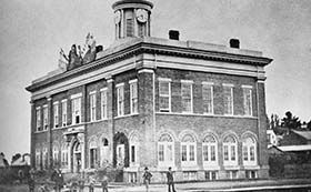 The Port Hope Town Hall before a fire mostly destroyed it in 1893