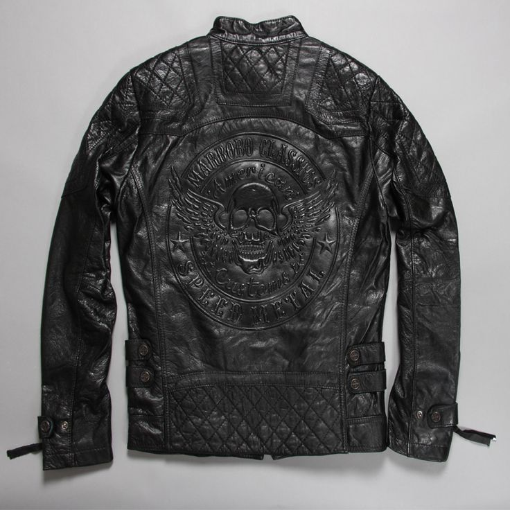 Find More Leather & Suede Information about Factory Men's Leather Jacket Skulls 3D Print Pattern Genuine Cowhide Skin Slim Fit Punk Bomber Motorcycle Biker Male Coat ZH183,High Quality Leather & Suede from Mosiriva on Aliexpress.com