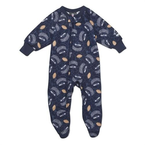 Seahawks Baby Blanket Sleeper #Seattle #Seahawks #Sleeper #Pajamas #Baby #Infant #babyfans