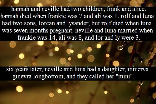 Luna & Neville where like made for each other. Duh.