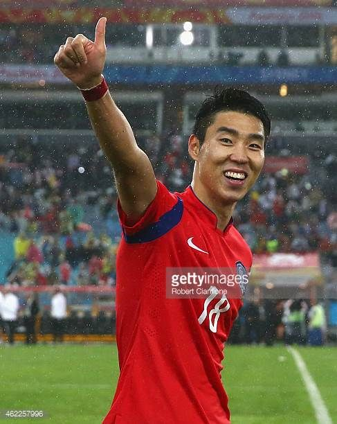 Lee Jeonghyeop of Korea Republic celebrates after Korea republic defeated Iraq during the Asian Cup Semi Final match between Korea Republic and Iraq...