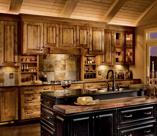 Country kitchen cabinets we re often asked about the for New kitchen cabinets