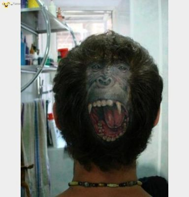 57 best funny haircuts images on pinterest hair dos for Tattoo bald spot