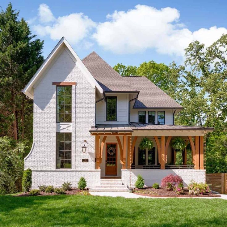 Eclectic Dream House In North Carolina With Inspiring Design Details House Designs Exterior Modern Farmhouse Exterior House Exterior