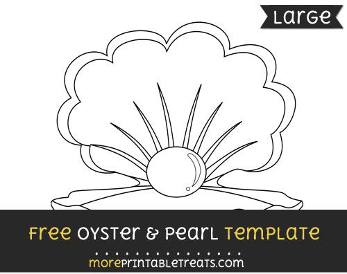Free Oyster And Pearl Template Large Oysters Templates Under