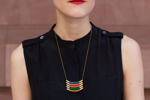 DIY This Geometric Metal Necklace In A Snap!