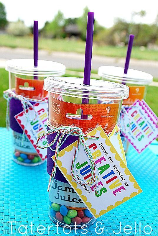 creative juices - teacher appreciation gift