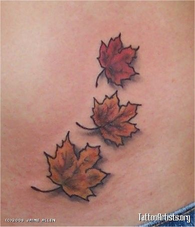 Cool Maple Leaves Tattoo Design