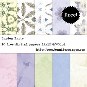Garden Party - Freebie Paper pack of the day