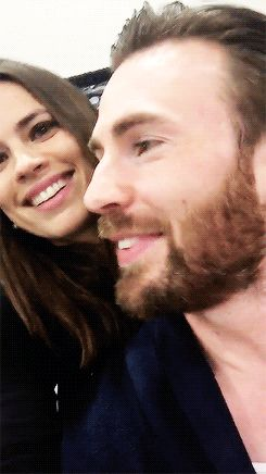 Hayley Atwell & Chris Evans at Salt Lake Comic Con on September 26, 2015 in Salt Lake City, Utah.