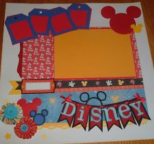 12x12 Mickey Mouse / Disney PREMADE SCRAPBOOK PAGE Vacation Themed