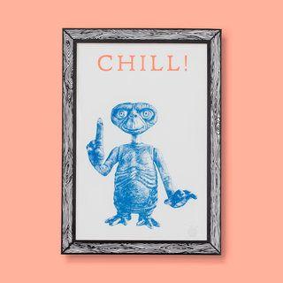 THE CHILL Alien RISO Print A3