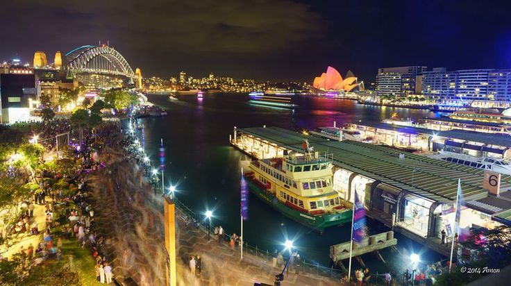 Circular Quay Vivid Sydney 2014