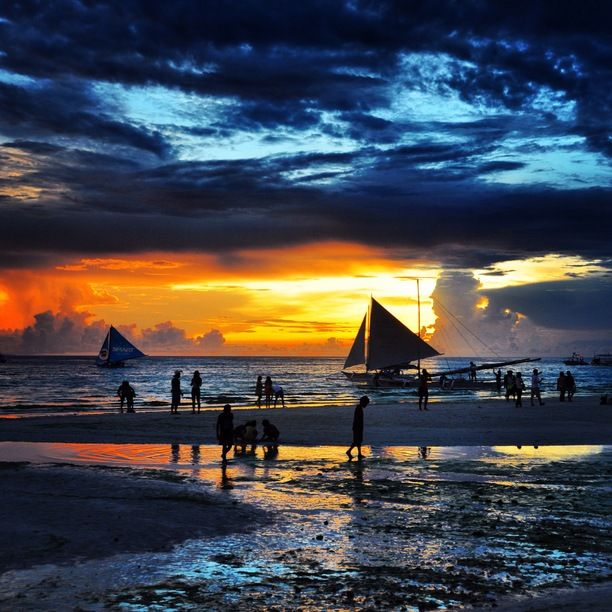 Boracay Island, Malay, Philippines — by Couple Of Travel Junkies. Sunset in beautiful #boracay