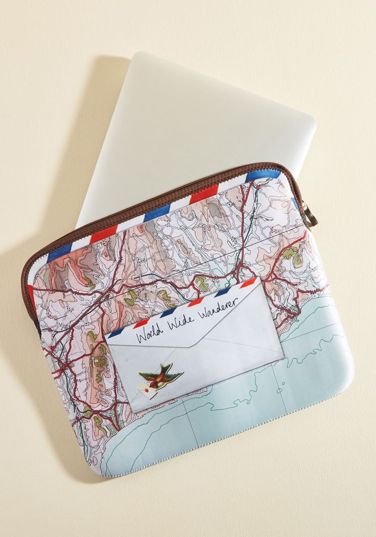 Traveling Translator Laptop Case. Show youre fluent in travel terminology by toting this neoprene laptop bag from Disaster Designs on your next overnight trek!  #modcloth