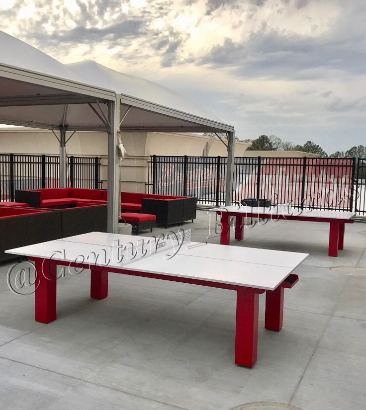 Atlanta Braves Custom Ping Pong Table For The Xfinity Rooftop Lounge At  SunTrust Park