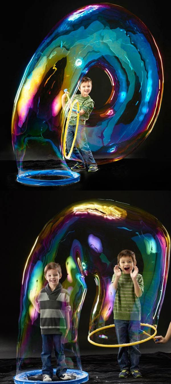 Create people-sized bubbles with this giant bubble wand—and we mean giant.