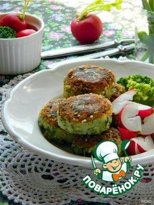 Постные шарики из брокколи и картофеля
