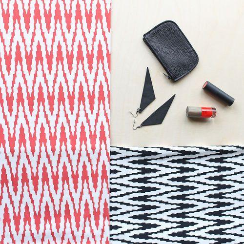 VIRTA, Vanilla - Black   NOSH Women Autumn 2016 Fabric Collection is now available at en.nosh.fi   NOSH Women syysmalliston 2016 uutuuskankaat saatavilla verkosta nosh.fi