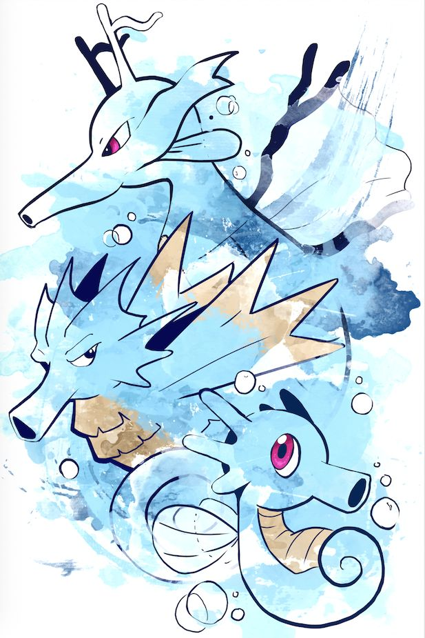 Seadra evolution art #Pokemon