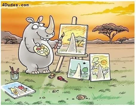 ✯: Pointofview, Rhinos Art, Points Of View, Giggl, Funny, Perspective, Painting, The World, Eye
