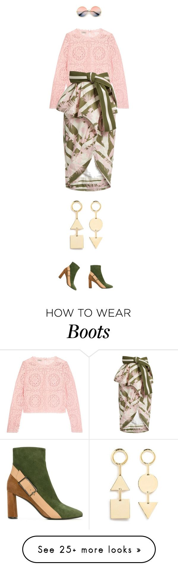 """eva 0604"" by evava-c on Polyvore featuring Temperley London, Johanna Ortiz, Casadei, ZeroUV and Eddie Borgo"