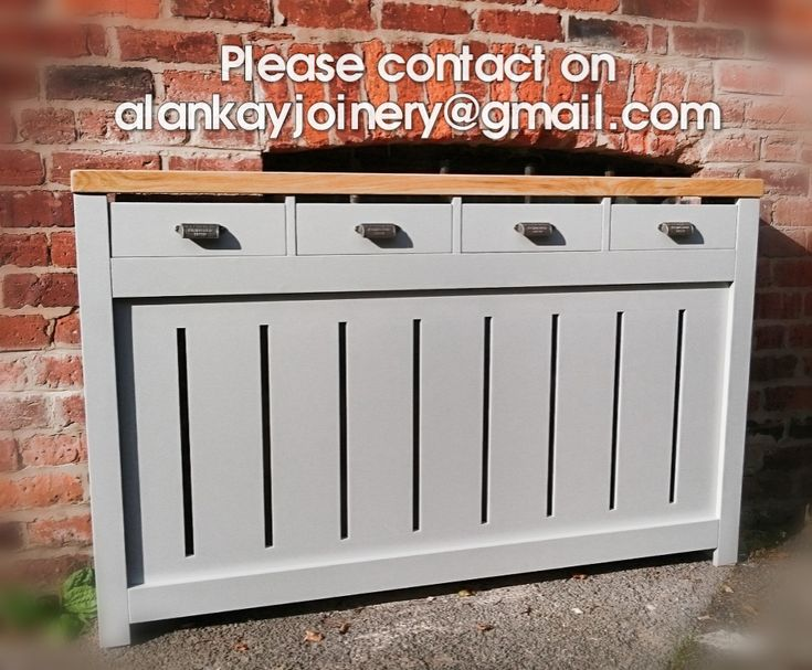 HALLWAY DRESSER STYLE Custom Bespoke Radiator cover (with draws) Please contact us on alankayjoinery@gmail.com for quotes. Anything can be made if you provide pictures and measurements.