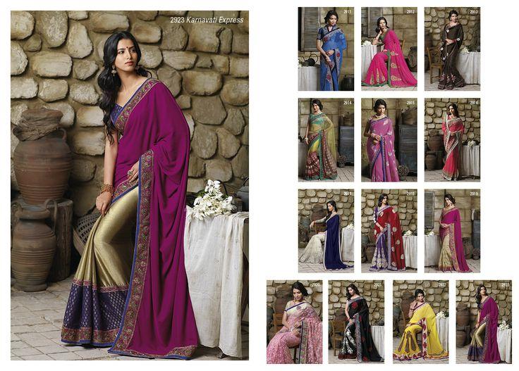 This stupendous golden satin silk saree with dark magenta velvet pallu & royal blue brocat material blouse piece...