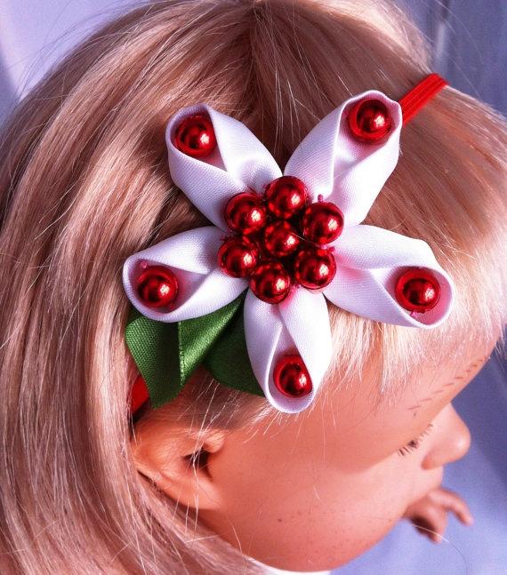christmas flower headband hairband for baby by FairyDustHeadbands, £3.99
