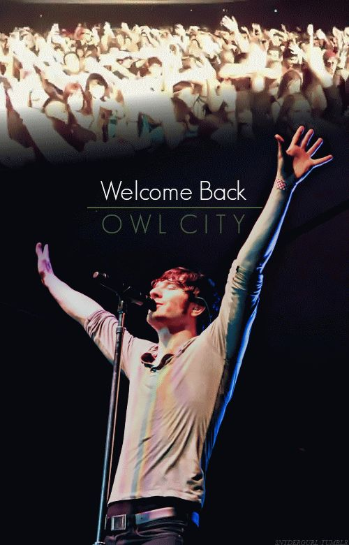 """""""It's long since overdue, but.. Owl City's back"""" << I love the fact that that song  is to the tune of Garden Party, since Garden Party (and especially Adam's cover of it) has always been very meaningful to me"""