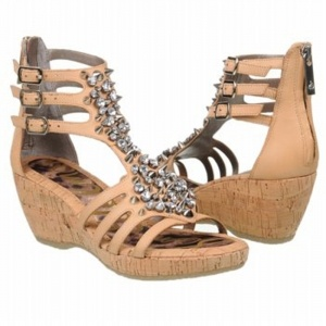 Sam Edelman Nell Wedge Heels Womens Natural Leather - ONLY $199.00.