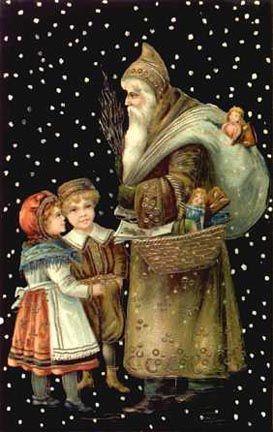 Old World Santa Claus - A bit o' beautiful, Victorian scrap!