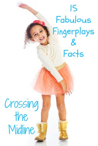 Crossing the Midline with Fingerplays develop Crossing the Midline, self regulation, oral language, transitions, classroom management Preschool and Kindergarten FA.1.34 FA.1.28