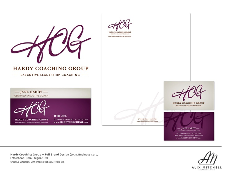 Hardy Consulting Group full brand (Designed while at CTNM)