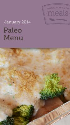 Paleo January 2014 Menu Freezer Meals - Resources to cook a month worth of meals in one day. Grocery lists, recipe cards, instructions and more.