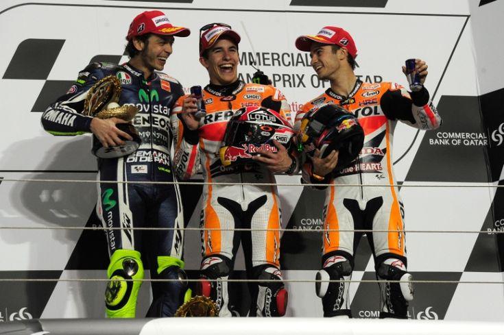 Rossi, Marquez, Pedrosa, Qatar MotoGP Race 2014