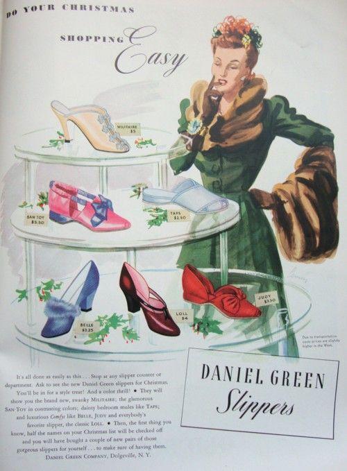Ad Campaign - Daniel Green Slippers, 1941
