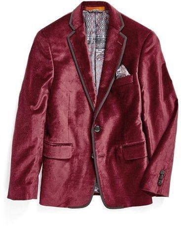 Boy's Tallia Velvet Sport Coat