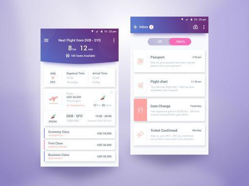 Flight Schedule App Great notification briefs: