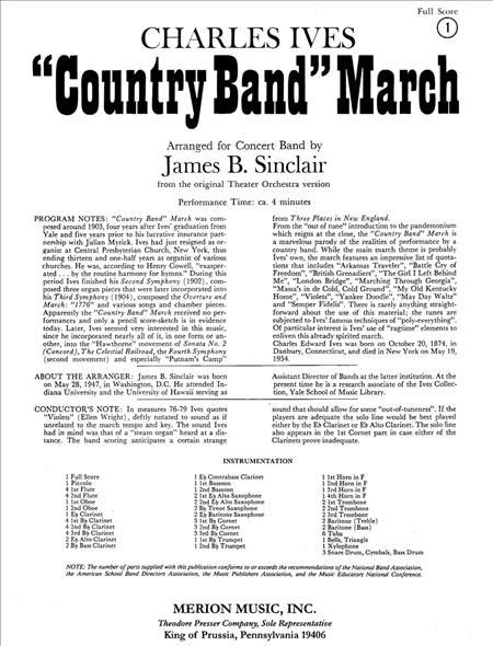 Country Band March (Full Score - Large)