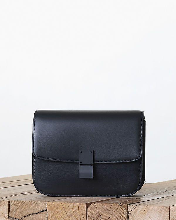 CÉLINE fashion and luxury leather goods 2013 Fall - Classic - 11 CLASSIC MEDIUM IN PALMELATO CALFSKIN LACQUERED BLACK 164173RLA.38NO