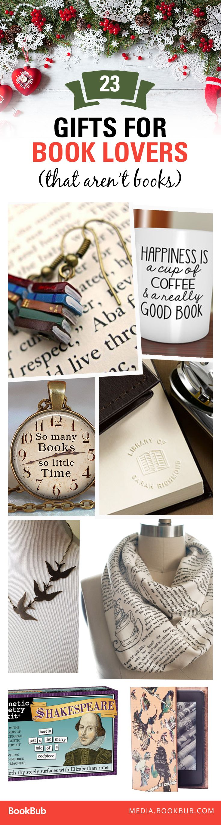 23 Christmas present ideas ideas for the book lover in your life!