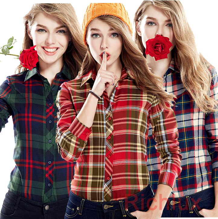 Cheap shirt running, Buy Quality shirt display directly from China shirts bench Suppliers: 2015 Spring Autumn Plaid Blouse Women Ladies Long Sleeve 100% Cotton Tops Shirts Plus Size Blusas Femina RoupasUSD 10.99