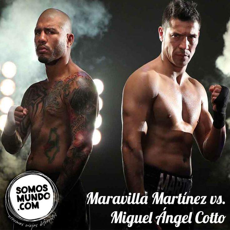 Vení con nosotros a ver la pelea del año! El próximo 7 de junio Maravilla Martínez defenderá el título mundial contra el Puertorriqueño Miguel Ángel Cotto. Te lo vas a perder?  Consultá ahora: www.somosmundo.com/?product=maravilla-martinez-vs-miguel-angel-cotto