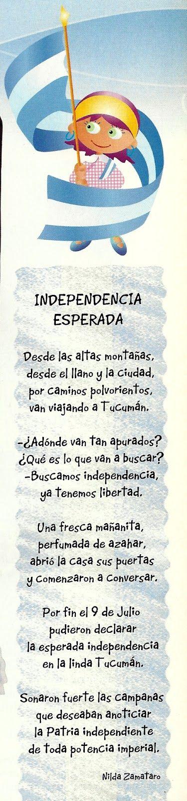 """* Palabras  alusivas para el acto *  Hoy vamos a hablar de una palabra muy difícil: la palabra """"independencia"""". Difícil de pronunciar, es mu..."""