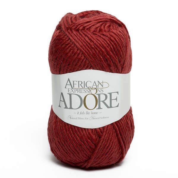 Colour Adore Red, Chunky weight,  African expressions 8295, knitting yarn, knitting wool, crochet yarn, kid mohair yarn, merino wool, natural fibres yarn.