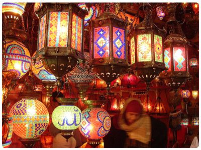 Lights in the Grand Bazaar, Istanbul