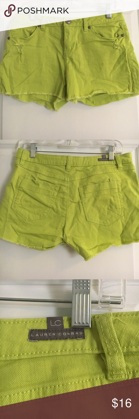 Lime green shorts!🍋 Cute lime green shorts! Frayed bottom! LC Lauren Conrad Shorts