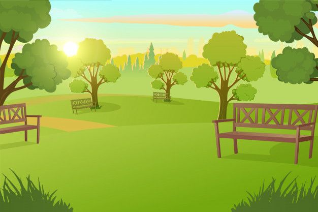 City Park Or Square With Trees On Meadow Vector Anime Scenery Anime Scenery Wallpaper Anime Background
